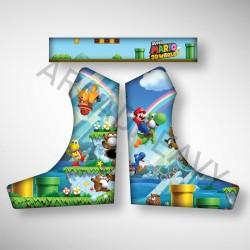 Vue des stickers MARIO pour notre Bartop, la moyenne borne d'arcade