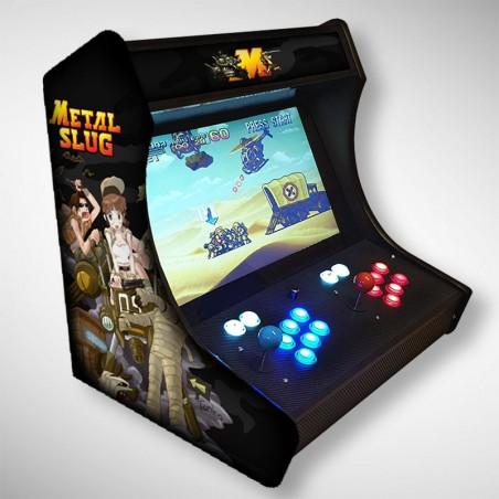 Vue de face du Bartop METAL SLUG avec son super écran avec le jeu d'arcade mythique !