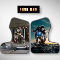 Vue des stickers IRON MAN pour notre miniborne d'arcade, la plus petite du marché