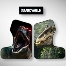 Vue des stickers Jurassic World pour notre miniborne d'arcade, la plus petite du marché
