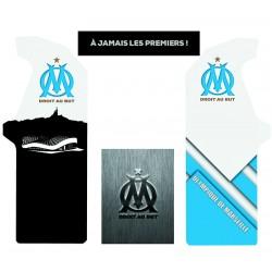 Stickers complets pour borne arcade Olympique de Marseille