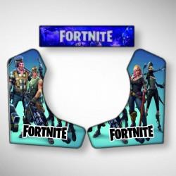 Vue des stickers FORTNITE pour la borne d'arcade moyenne le bartop