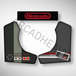 Vue des stickers NES pour notre Bartop, la moyenne borne d'arcade