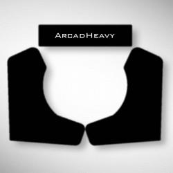 Vue des stickers Noir ArcadHeavy pour notre Bartop, la moyenne borne d'arcade