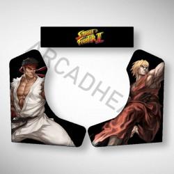 Vue des stickers Street Fighter pour notre Bartop, la moyenne borne d'arcade