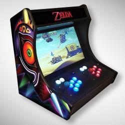 Vue de coté du second Bartop Zelda l'écran au top et une partie des 1300 jeux dont METAL SLUG