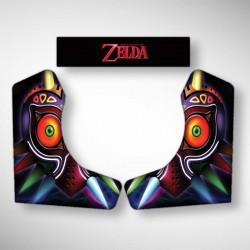 Vue des stickers du second Bartop ZELDA, la moyenne borne d'arcade