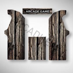 Stickers pour borne arcade BOIS. Il existe plusieurs texture de bois, si vous avez une idée n'hésitez pas