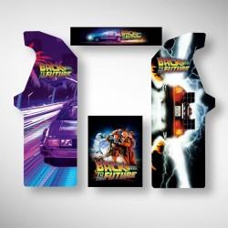 Stickers pour borne d'arcade Back to the future permettant de jouer à pleins de jeux arcade dont Street Fighter et Pacman