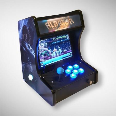 Vue de face de la mini borne d'arcade ALBATOR 78 jouable en solo