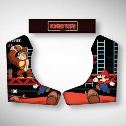 Vue des stickers Donkeykong pour notre Bartop, la moyenne borne d'arcade