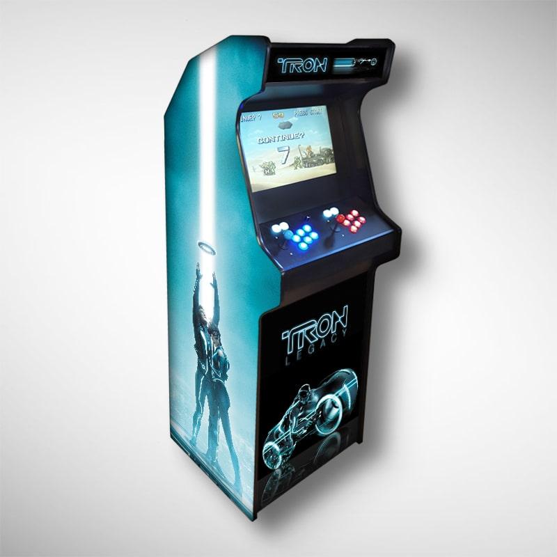 Exemple de borne arcade livrée sur Marseille, la borne d'arcade TRON !