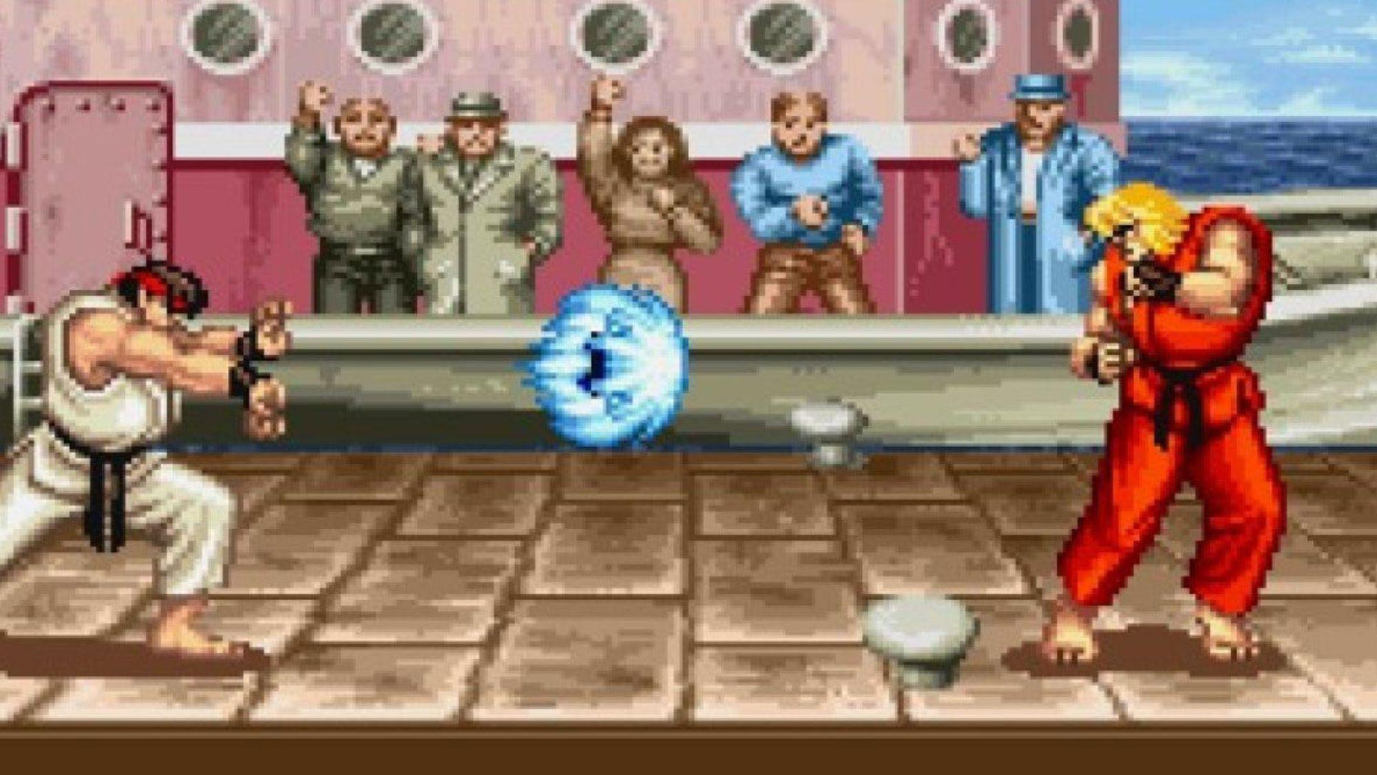 Exemple d'ecran avec la borne d'arcade Street Fighter 2